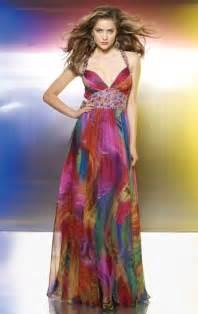colorful bridesmaid dresses flaunt colorful print chiffon beaded prom dress from mori