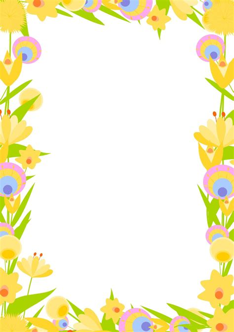 printable borders with flowers free digital floral frame png and diy stationery