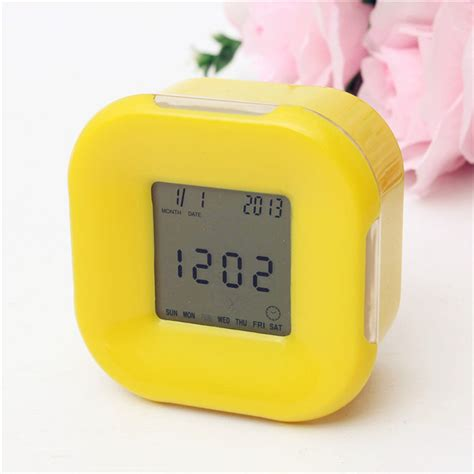 Rotating Water Powered Multifunction Clock by Multifunction 4 Side Change Clock Calendar Timer