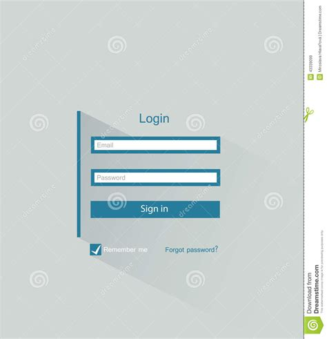 login template design member login stock vector image 43339099