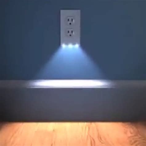 bathroom night lights 2in1 duplex bathroom night light sensor led plug cover