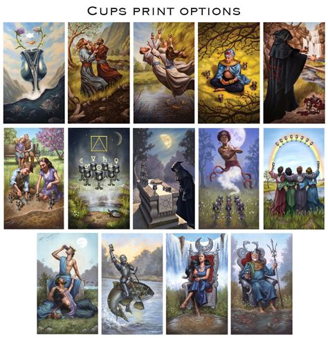 prints modern spellcaster s tarot suit of cups