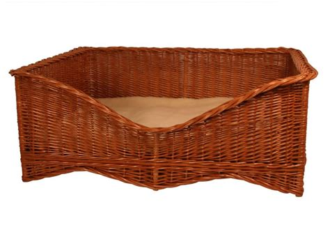 wicker dog bed luxury wicker dog bed with cushion by gadsby muddy paws