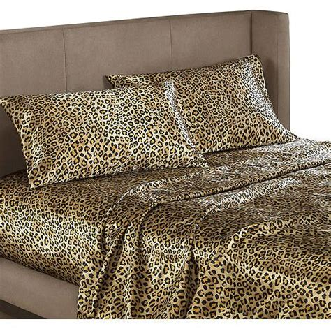 leopard bed set cheetah print satin sheets queen size leopard animal