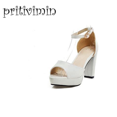 white platform sandals wedding aliexpress buy 2015 brand womens summer wedding