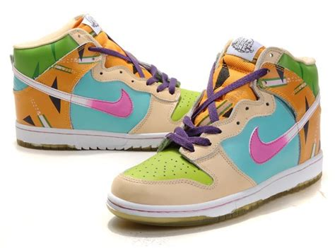 colorful nikes nike dunks sb high tops colorful shoes for bright