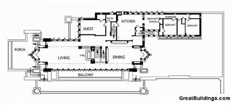 Robie House Floor Plan by Ad Classics Frederick C Robie House Frank Lloyd Wright