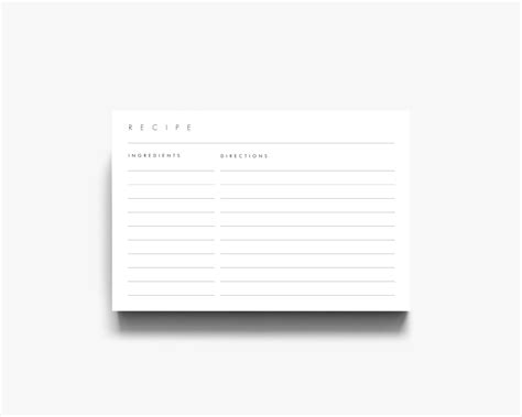 4x6 template card 4x6 recipe template 3x5 recipe cards recipe card template