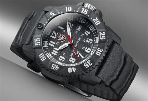 luminox dive luminox joins the carbon craze as its diving watches get