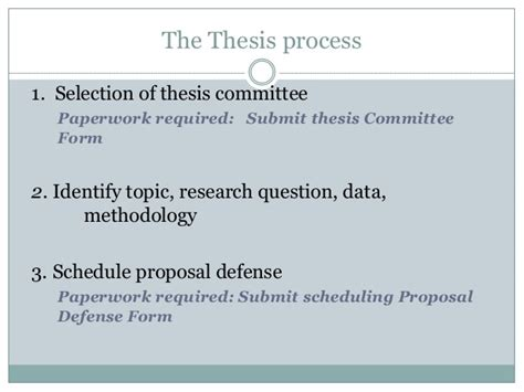 thesis committee your thesis committee