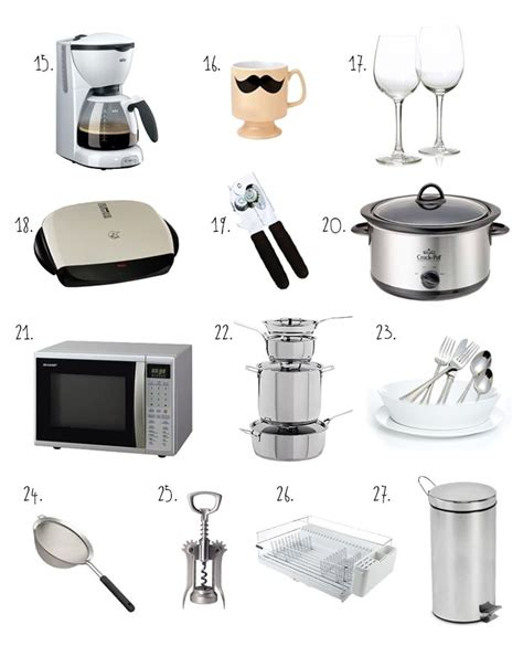best kitchen essentials first apartment essentials checklist latest checklist for