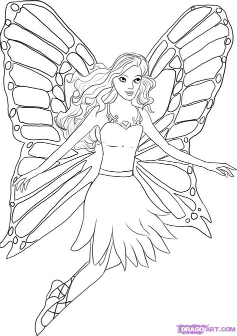 barbie fairytopia coloring pages az coloring pages