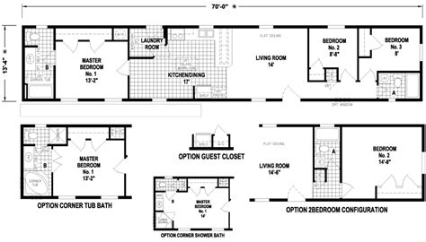 14x70 mobile home floor plan brigantine 14 x 70 956 sqft mobile home factory expo