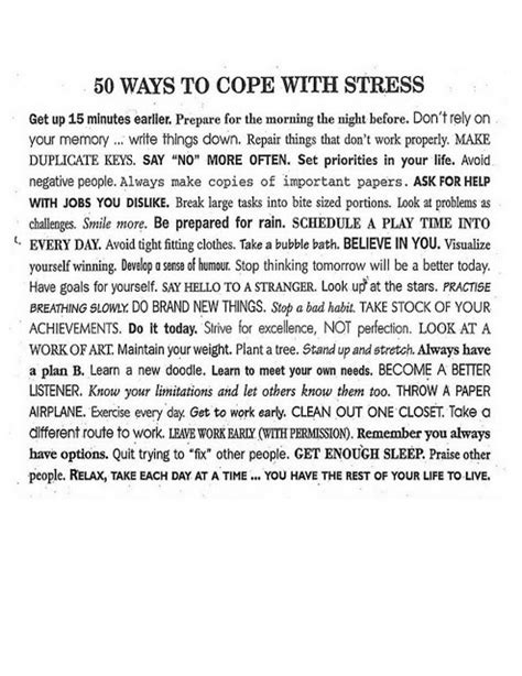 4 Types Of Up And Ways To Deal With Them by Corilu Designs 50 Ways To Cope With Stress