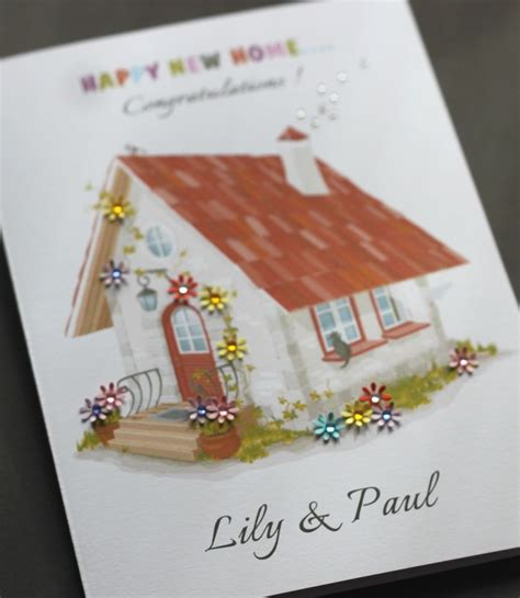 Handmade Cards Ebay - large a5 handmade personalised happy new home card ebay