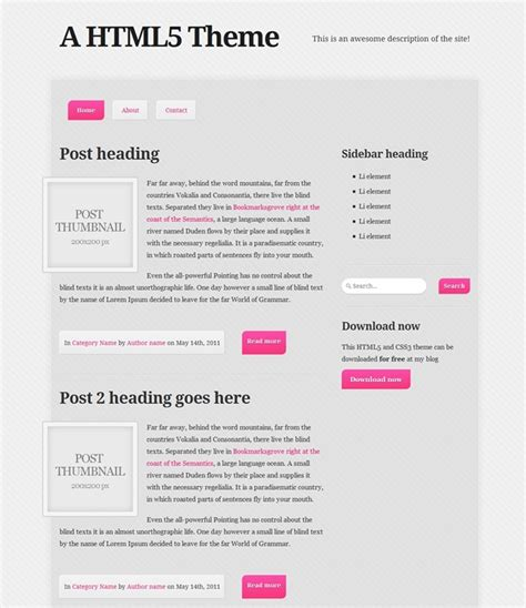 design form html5 css3 35 beautiful html5 and css3 templates for your website