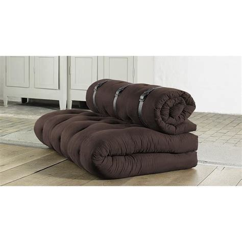 Futon Confortable by Canap 233 Convertible Futon Buckle Up Karup Marron Achat
