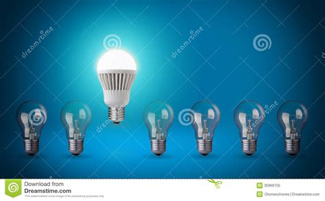 free led light bulbs led stock image image of idea bright economical
