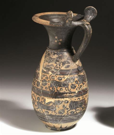 vasi etruschi valore olpe a rotelle etrusco corinzia asta reperti