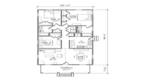 Narrow Lot Home Plans With Garage by Bungalow Cottage Narrow Lot Plan Narrow Plan Bungalow