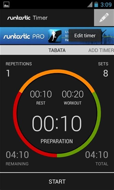 Android Timer by Set Activity Phases For Your Workouts With Runtastic Timer