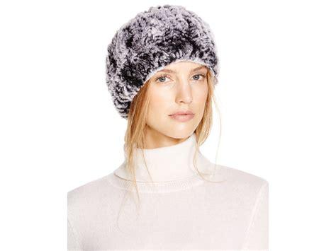 surell rabbit fur headband scarf in gray lyst