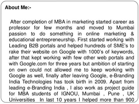 Marketing Mba In Canada by Mba Project Report Of Sikkim Manipal