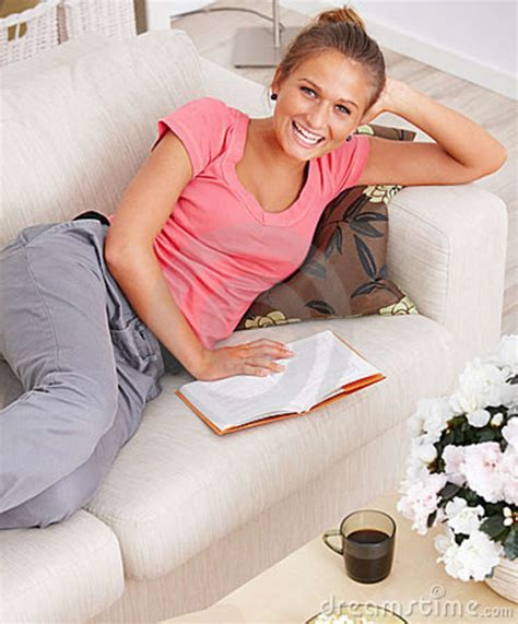 student couch royalty free stock photos study happy student reading