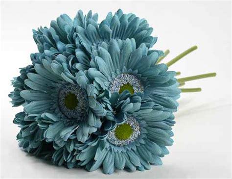 artificial silk flowers gerbera teal artificial silk teal gerbera daisy bundle floral sale