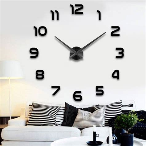 Large Wall Stickers For Living Room popular large wall clock buy cheap large wall clock lots