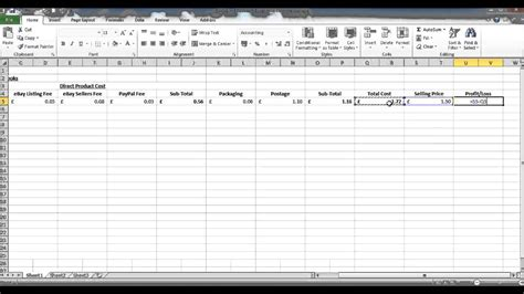 profit and loss spreadsheet template spreadsheet templates