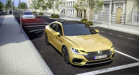 volkswagen arteon stance vw arteon can prepare you for an impending rear end collision