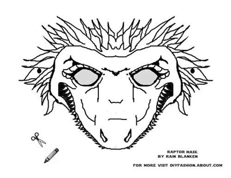 Velociraptor Printable Mask   10 best my dinosaur mask printables images on pinterest
