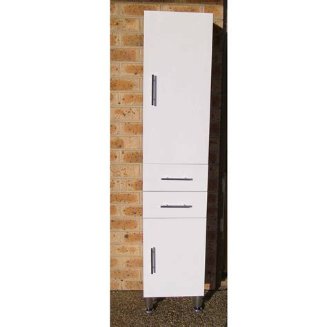 bathroom tall boys euro tall boy 400 400x450x1700mm high gloss white