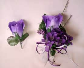 prom flowers purple homecoming corsages boutonnierres
