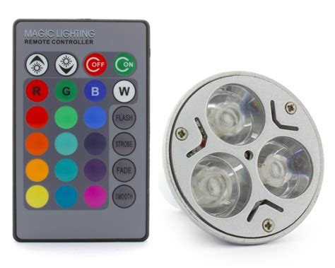 Colour Changing Led L With Remote by Gu10 3 X 1w Led 16 Colour Changing Light Bulb With Remote