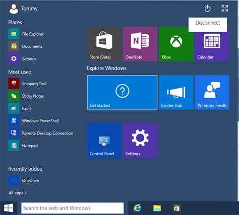 remote desktop rdp how to shut windows 10 via remote desktop