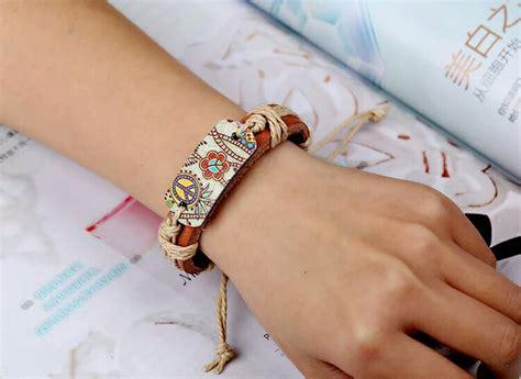 Gelang Cowok Kulit jual gelang tangan kulit cewek cowok peace di lapak