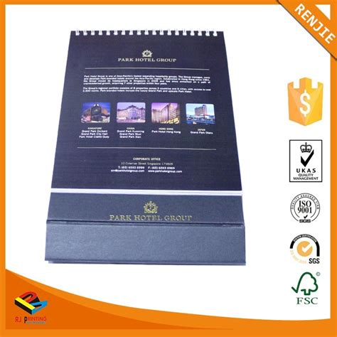 Custom Printing Tear Off Spiral Binding Desk Calendar