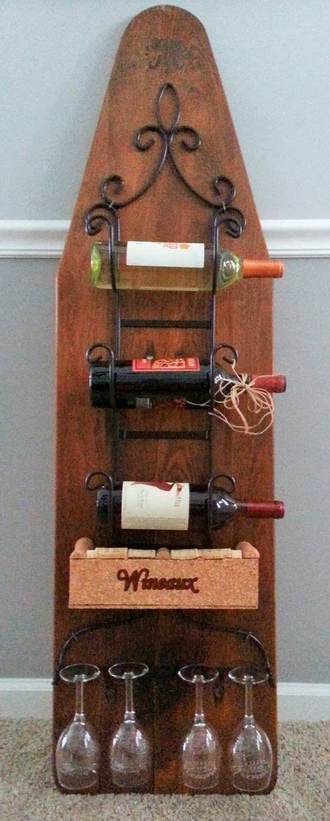 Repurpose Metal Wine Rack by Give To Your Ironing Board Vintageholic