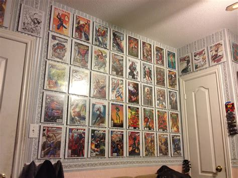 comic book shelves borderless frames for comics new mancave ideas