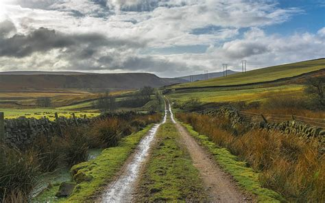 wallpaper england derbyshire peak district road hills
