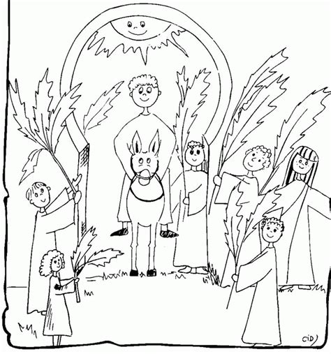 palm sunday coloring page coloring home