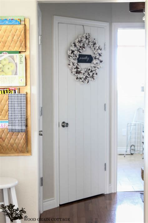 Wood Pantry Doors by Diy Wood Planked Pantry Door The Wood Grain Cottage