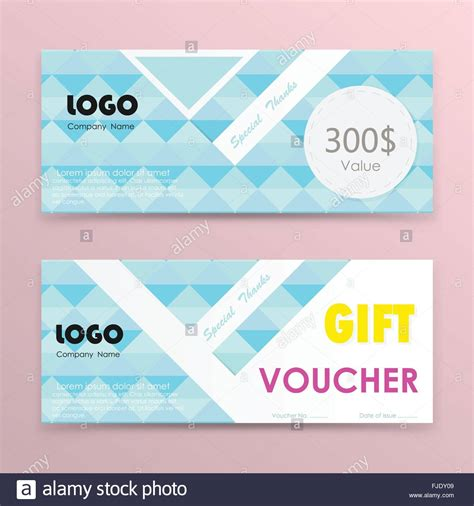 gift voucher background or certificate coupon template