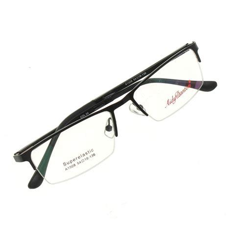 metal half rimless reading glasses myopic eyewear frame at