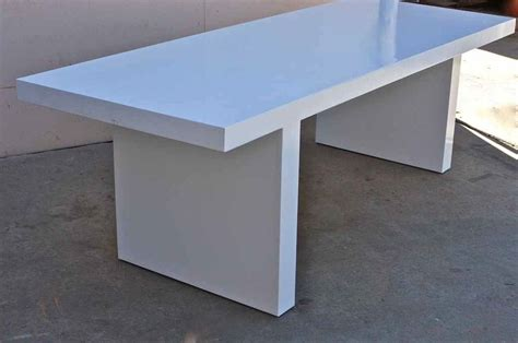Lucite Dining Room Table by Hand Crafted White Lacquer Mid Century Modern Dining Table