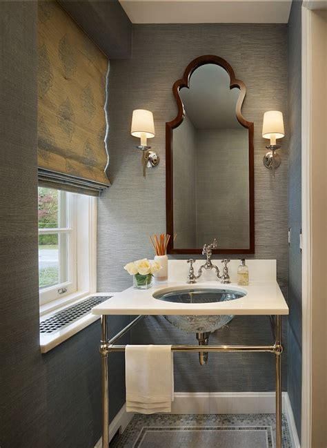 small roman blinds for bathroom grasscloth wallpaper roman shade chrome leg vanity