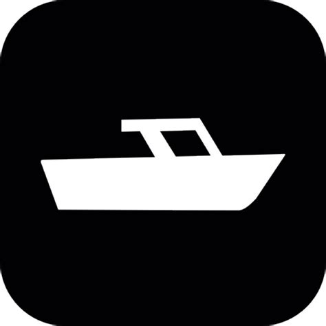 boat icon black and white boat inside a rounded square icons free download