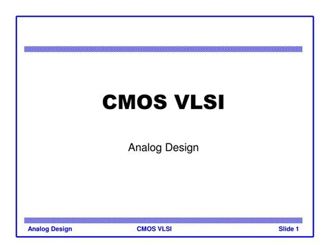 vlsi cmos layout ppt cmos vlsi powerpoint presentation id 192875